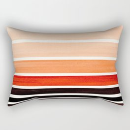 Burnt Sienna Minimalist Mid Century Modern Color Fields Ombre Watercolor Staggered Squares Rectangular Pillow