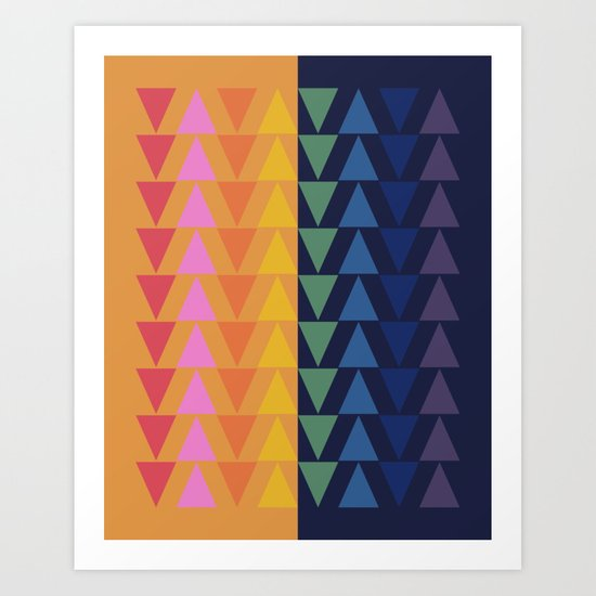 Day and Night Rainbow Triangles by junejournal