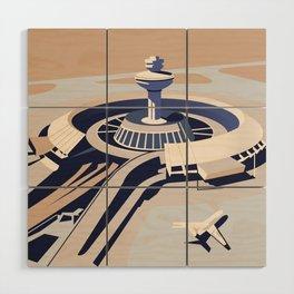 Soviet Modernism: Zvartnots airport, Armenia Wood Wall Art