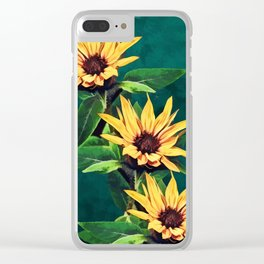 Watercolor sunflowers Clear iPhone Case