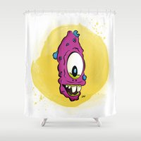 dick Shower Curtains featuring Hello Dick! by Pepe Cortez