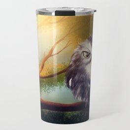 Owl Bird Forest Travel Mug