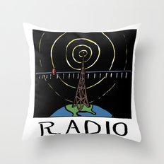 Radio Throw Pillow