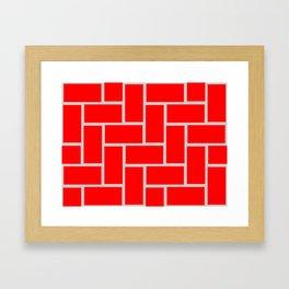 brick pattern Framed Art Print