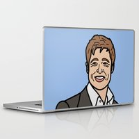 brad pitt Laptop & iPad Skins featuring Brad Pitt by agr_artwork