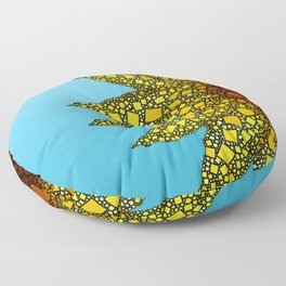 Sunflower in Abstract Form - Flower field - Autumn and summer collide - 57 Montgomery Ave Floor Pillow