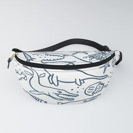 Prehistoric marine reptiles and friends Fanny Pack