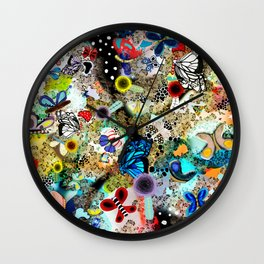 Butterfly leopard paradise Butterflies Wall Clock