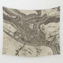 Vintage Map of Lyon France (1818) Wall Tapestry