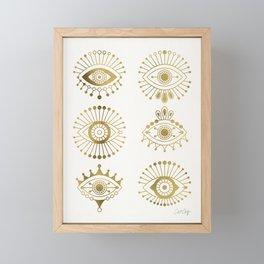 Evil Eyes – Gold Palette Framed Mini Art Print