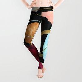 Abstract Pebbles II Leggings