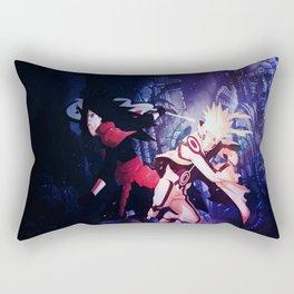 madara vs naruto mode bijuu Rectangular Pillow