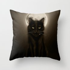 Salem after Dark Throw Pillow