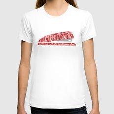 Office Space MEDIUM White Womens Fitted Tee