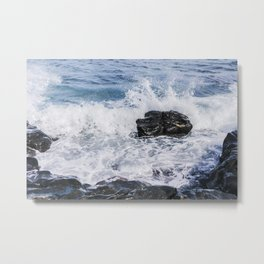 Sea Spray on the Rocks Metal Print