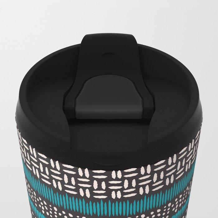 Dots, spots and zigzags pattern Metal Travel Mug