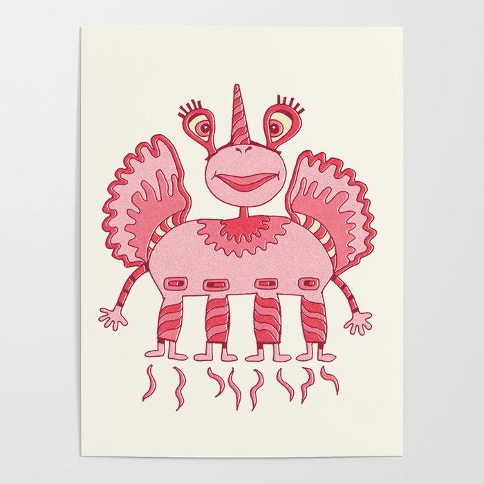 Robot Alien Monster No 290 Poster
