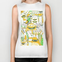 it crowd Biker Tanks featuring Monster crowd by AliceDudurand