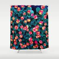 tulips Shower Curtains featuring Tulips by Madison Webb
