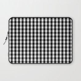 Classic Black & White Gingham Check Pattern Laptop Sleeve