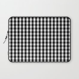 Classic Black & White Gingham Check Pattern Laptop Sleeve