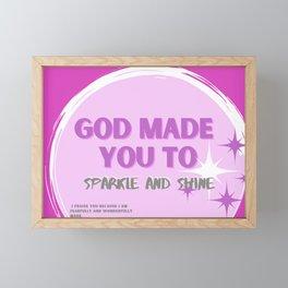 Sparkle and Shine Framed Mini Art Print