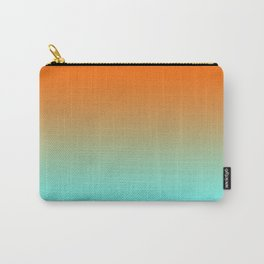 Modern Bright Orange and Light Aqua Ombre Carry-All Pouch