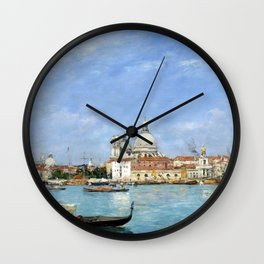 Eugène Louis Boudin Venice, Santa Maria della Salute from San Giorgio Wall Clock