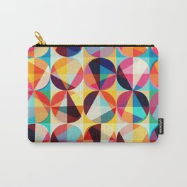Retro Vintage Geometric Circles Pattern Carry-All Pouch