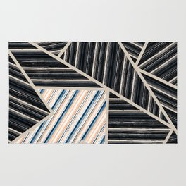 Abstract striped geometric pattern. Rug