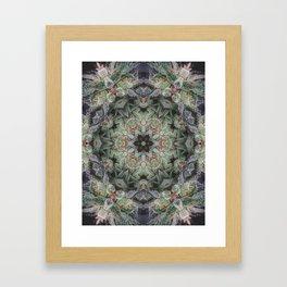 Crystal Wheel Framed Art Print