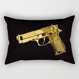 Golden Gun Rectangular Pillow