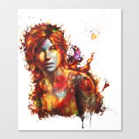 lara croft Canvas Prints featuring Lara Croft by ururuty
