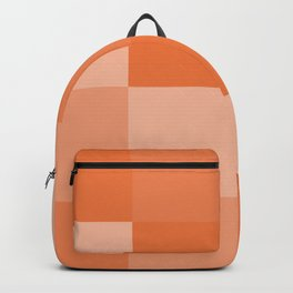 Four Shades of Orange Square Backpack