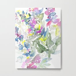 Colourful Leafs Metal Print
