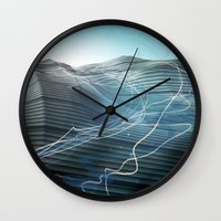 journey Wall Clocks featuring Journey by Jason Linn
