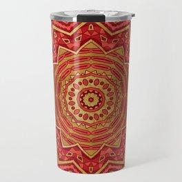 Ruby Red Mandala Travel Mug