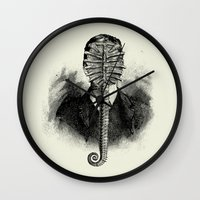 alien Wall Clocks featuring Alien by DIVIDUS