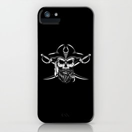 Bearded Pirate Funny Pirate Sailor Rum Lover Gift iPhone Case