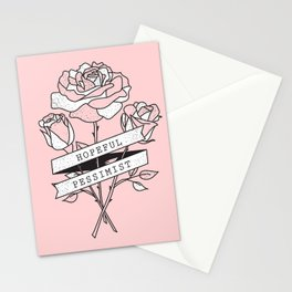 hopeful pessimist Stationery Cards