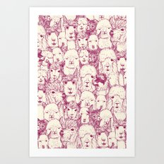 just alpacas cherry pearl Art Print