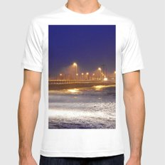 Storm Watch  MEDIUM White Mens Fitted Tee