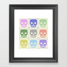 quilt of grrr (born to die). Framed Art Print