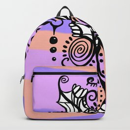 Freestyle Doodle Marker Design - Purple Peach Backpack
