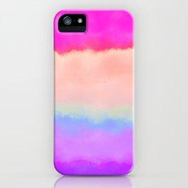 Modern girly pink magenta violet lavender watercolor stripes iPhone Case