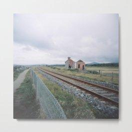 Rails and Ruins Metal Print