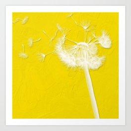 Freesia Yellow Dandelion Art Print