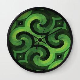 GREEN WALLPAPER Pop Art Wall Clock