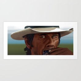 Once Upon a Time in the West: Charles Bronson Art Print