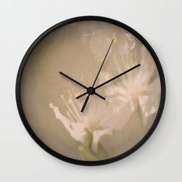Fading Blossoms Wall Clock
